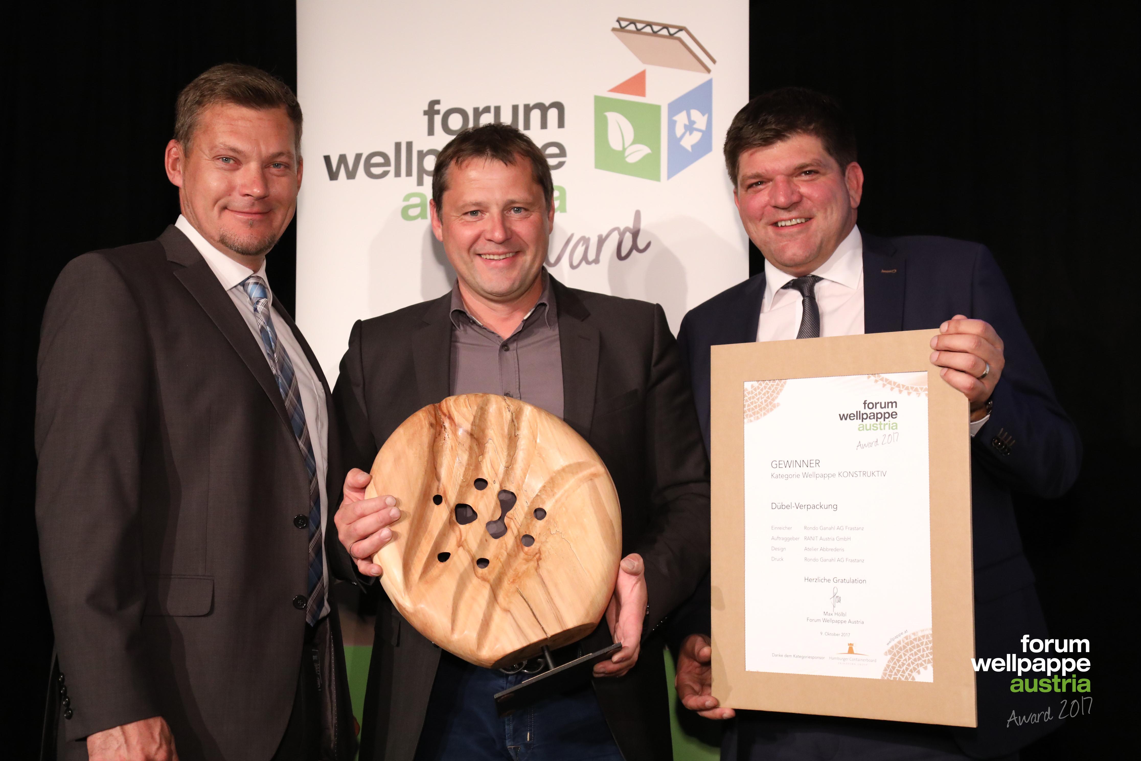 Wellpappe Award 2017 Gewinner Konstruktiv J. Krenn Hamburger Containerboard H. Keckeis Ranit S. Kaar Rondo Ganahl © L. Schedl